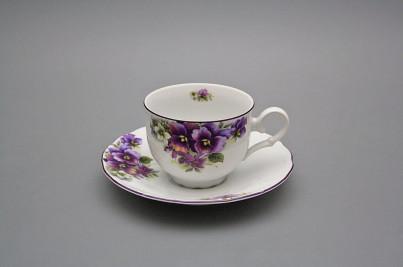 Tea cup 0,18l with saucer Ofelia Pansy FL č.1