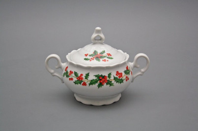 Tea sugar bowl 0,24l Ofelia Christmas holly BB č.1