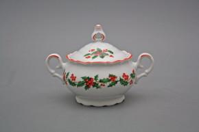 Coffee sugar bowl 0,24l Ofelia Christmas holly CL