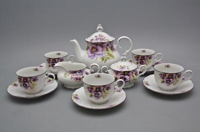 Tea set Ofelia Pansy 15-piece FL č.1