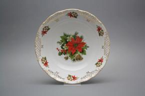 Deep dish 25cm Ofelia Poinsettia FGL LUX