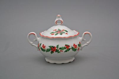 Tea sugar bowl 0,24l Ofelia Christmas holly CL č.1