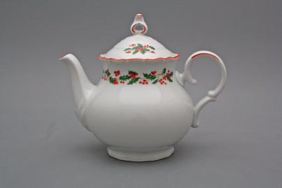 Teapot 1,2l Ofelia Christmas holly CL č.1