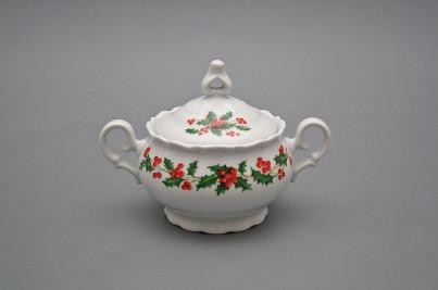 Coffee sugar bowl 0,24l Ofelia Christmas holly BB č.1