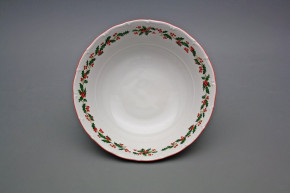 Deep dish 23cm Ofelia Christmas holly CL