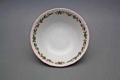 Deep dish 23cm Ofelia Christmas holly CL č.1