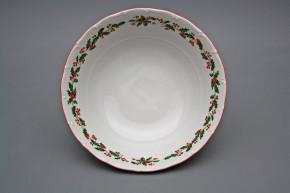 Deep dish 25cm Ofelia Christmas holly KCL