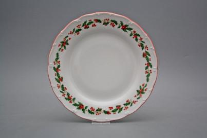 Flat plate 25cm Ofelia Christmas holly CL č.1