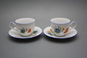 Tea cup 0,18l with saucer Ofelia Field flowers AL