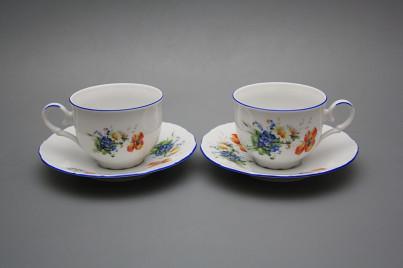 Tea cup 0,18l with saucer Ofelia Field flowers AL č.1