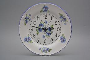 Plate clock Ofelia Cornflowers FAL