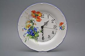 Plate clock Ofelia Field flowers DAL