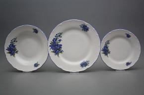 Plate set Ofelia Forget-me-not 12-piece CAL