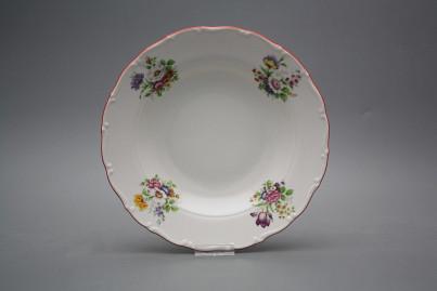Deep plate 23cm Ofelia Meissen bouquet ECL č.1