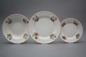 Plate set Ofelia Meissen bouquet 18-piece ECL