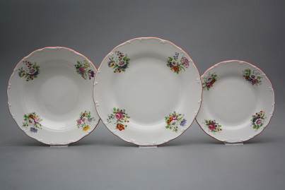 Plate set Ofelia Meissen bouquet 18-piece ECL č.1