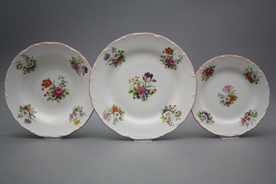 Plate set Ofelia Meissen bouquet 18-piece GCL č.1