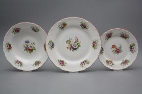 Plate set Ofelia Meissen bouquet 18-piece FCL