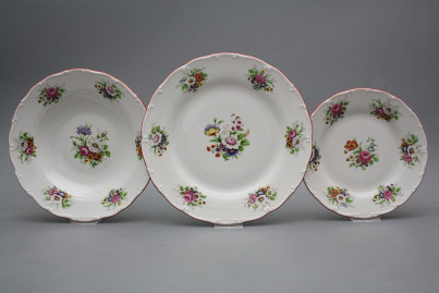Plate set Ofelia Meissen bouquet 18-piece FCL č.1