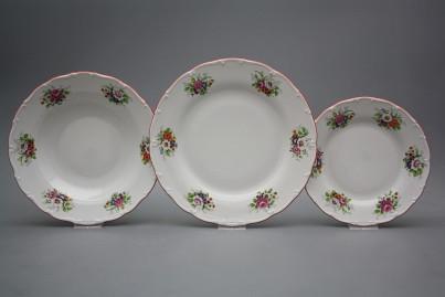 Plate set Ofelia Meissen bouquet 36-piece ACL č.1