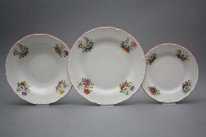 Plate set Ofelia Meissen bouquet 12-piece ECL č.1