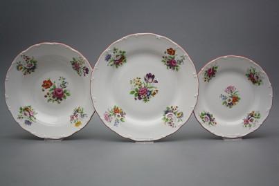 Plate set Ofelia Meissen bouquet 24-piece GCL č.1