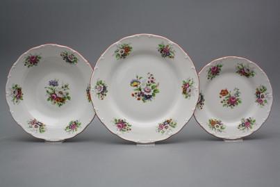 Plate set Ofelia Meissen bouquet 36-piece FCL č.1