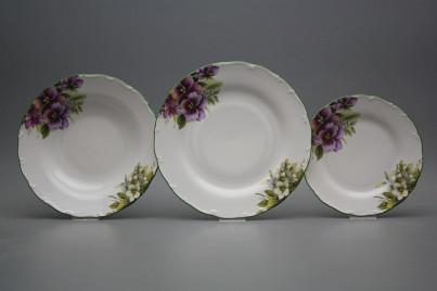 Plate set Ofelia Pansy 12-piece DZL č.1
