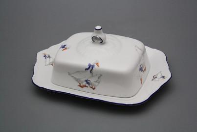 Butter dish square Ofelia Geese ML č.1