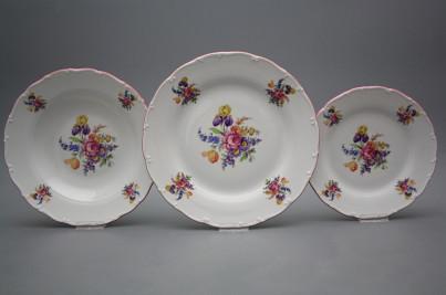 Plate set Ofelia Bouquet with irisies 12-piece GRL č.1