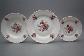 Plate set Ofelia Bouquet with irisies 18-piece GRL