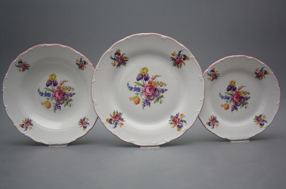 Plate set Ofelia Bouquet with irisies 18-piece GRL č.1