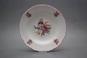 Deep plate 23cm Ofelia Bouquet with irisies GRL