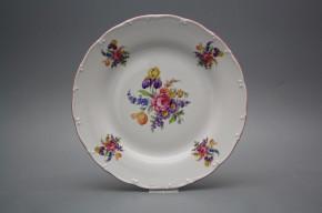 Flat plate 25cm Ofelia Bouquet with irisies GRL