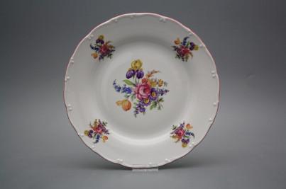 Flat plate 25cm Ofelia Bouquet with irisies GRL č.1