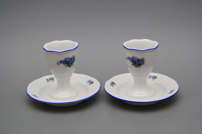 Egg cup with stand Rokoko Forget-me-not AL č.1