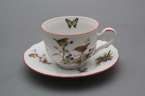 Tea cup 0,18l with saucer Ofelia Birds CL