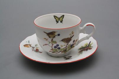 Tea cup 0,18l with saucer Ofelia Birds CL č.1