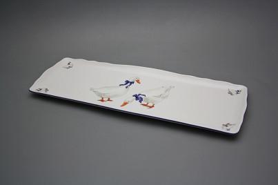 Tray square 45cm Rokoko Geese ML č.1