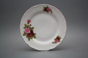 Flat plate 25cm Ofelia Elizabeth rose CRL
