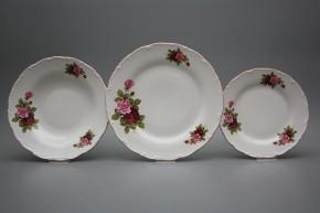 Plate set Ofelia Elizabeth rose 12-piece CRL