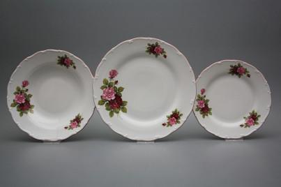 Plate set Ofelia Elizabeth rose 36-piece CRL č.1