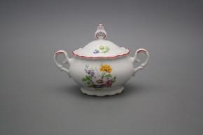 Coffee sugar bowl 0,24l Ofelia Meissen bouquet CL