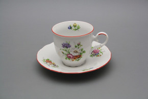 Coffee cup 0,18l and saucer Ofelia Meissen bouquet CL