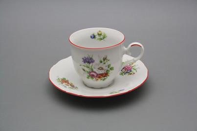 Coffee cup 0,18l and saucer Ofelia Meissen bouquet CL č.1