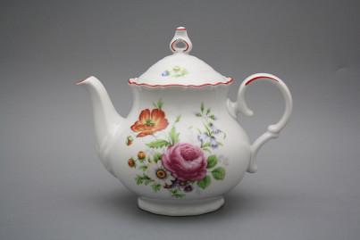 Teapot 1,2l Ofelia Meissen bouquet CL č.1