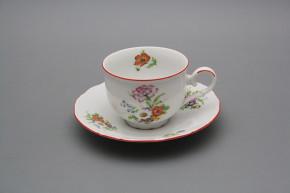 Tea cup 0,18l with saucer Ofelia Meissen bouquet CL