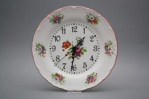 Plate clock Ofelia Meissen bouquet FCL