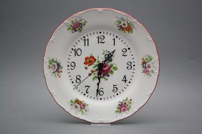 Plate clock Ofelia Meissen bouquet FCL č.1