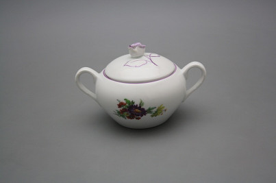 Sugar bowl 0,3l with handles Rokoko Bouquet FL č.1